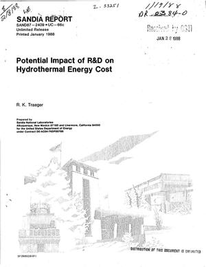 Primary view of Potential impact of R and D on hydrothermal energy cost
