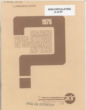 Changing public attitudes on governments and taxes, 1975
