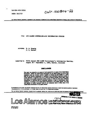 Primary view of object titled 'Los Alamos controlled-air incineration studies'.