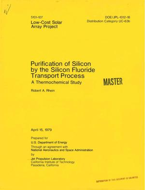 Primary view of object titled 'Purification of silicon by the silicon fluoride transport process. Thermochemical study'.
