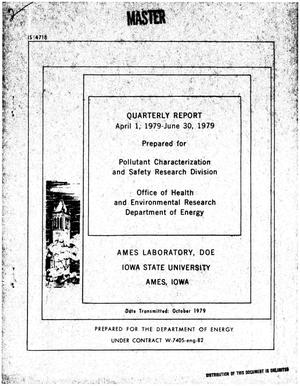Primary view of object titled 'Office of Health and Environmental Research. Quarterly report, April 1, 1979-June 30, 1979. [Ames Municipal Solid Waste Recovery System]'.