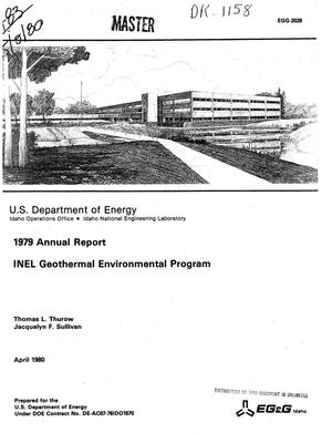 Primary view of object titled 'INEL Geothermal Environmental Program. 1979 annual report'.