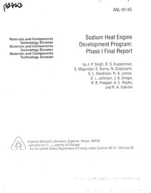 Primary view of object titled 'Sodium Heat Engine Development Program'.