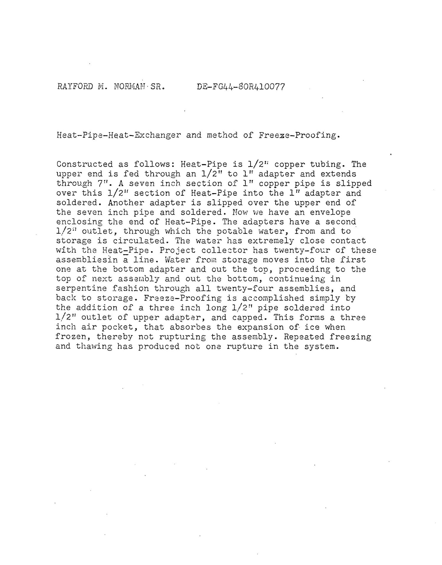 Heat pipe dynamics. Final report, April 30, 1981. [Uses of heat pipe, especially in solar collector]                                                                                                      [Sequence #]: 7 of 17