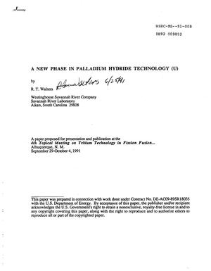 Primary view of object titled 'A new phase in palladium hydride technology'.