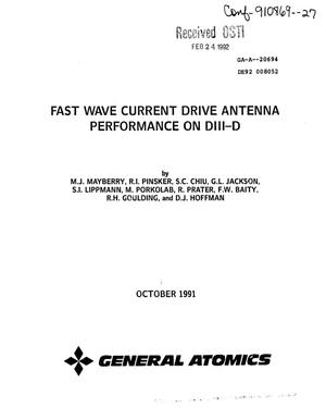 Primary view of object titled 'Fast wave current drive antenna performance on DIII-D'.
