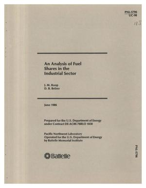 Primary view of object titled 'Analysis of fuel shares in the industrial sector'.