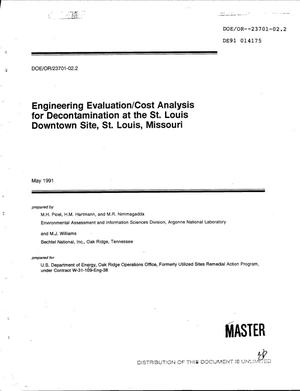 Primary view of object titled 'Engineering evaluation/cost analysis for decontamination at the St. Louis Downtown Site, St. Louis, Missouri'.
