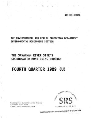 Primary view of object titled 'The Savannah River Site's Groundwater Monitoring Program'.