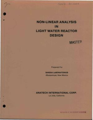 Primary view of object titled 'Non-linear analysis in Light Water Reactor design'.