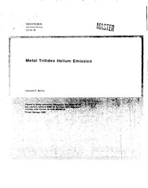 Primary view of object titled 'Metal tritides helium emission'.
