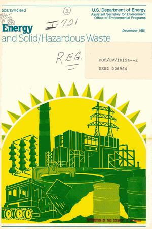 Primary view of object titled 'Energy and solid/hazardous waste'.