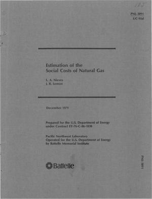 Primary view of object titled 'Estimation of the social costs of natural gas'.