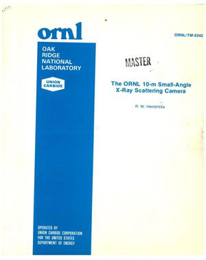 Primary view of object titled 'ORNL 10-m small-angle X-ray scattering camera'.