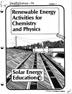 Primary view of object titled 'Solar Energy Education. Renewable energy activities for chemistry and physics'.