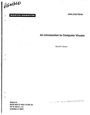Primary view of object titled 'An introduction to computer viruses'.