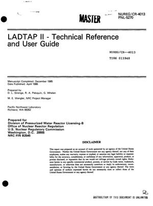 Primary view of object titled 'LADTAP II: technical reference and user guide'.