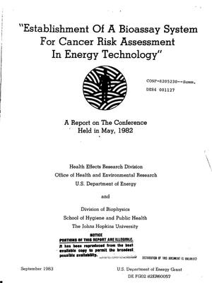 Primary view of object titled 'Establishment of a bioassay system for cancer risk assessment in energy technology'.