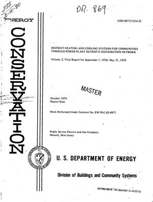 Primary view of object titled 'District heating and cooling systems for communities through power plant retrofit distribution network. Final report, September 1, 1978-May 31, 1979'.