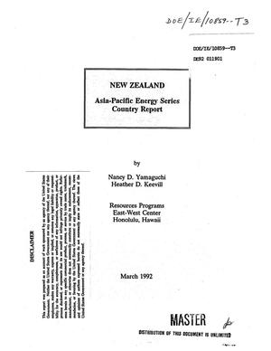 Primary view of object titled 'New Zealand: Asia-Pacific energy series, country report'.