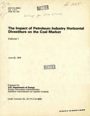 Primary view of object titled 'Impact of petroleum industry horizontal divestiture on the coal market. [Proposed for consideration by Congress]'.