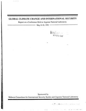 Primary view of object titled 'Global climate change and international security'.