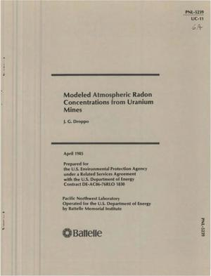 Primary view of object titled 'Modeled atmospheric radon concentrations from uranium mines'.