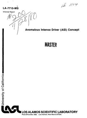 Primary view of object titled 'Anomalous intense driver (AID) concept'.