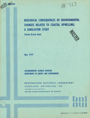 Primary view of object titled 'Biological consequences of environmental changes related to coastal upwelling: a simulation study'.