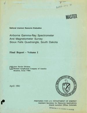 Primary view of object titled 'Airborne gamma-ray spectrometer and magnetometer survey: Sioux Falls quadrangle, South Dakota. Volume I. Final report'.