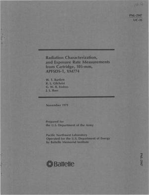 Primary view of object titled 'Radiation characterization, and exposure rate measurements from cartridge, 105-mm, APFSDS-T, XM774'.