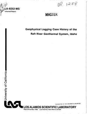 Primary view of object titled 'Geophysical logging case history of the Raft River geothermal system, Idaho'.