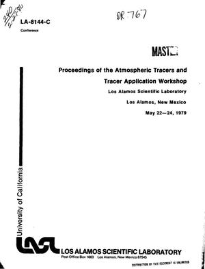 Primary view of object titled 'Proceedings of the atmospheric tracers and tracer application workshop'.