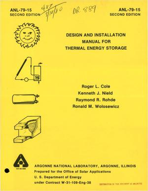 Primary view of object titled 'Design and installation manual for thermal energy storage'.