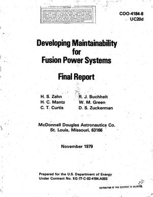 Primary view of object titled 'Developing maintainability for fusion power systems. Final report'.