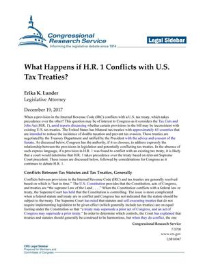 Primary view of object titled 'What Happens if H.R. 1 Conflicts with U.S. Tax Treaties?'.