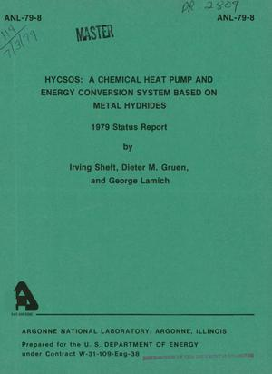 Primary view of object titled 'HYCSOS: a chemical heat pump and energy conversion system based on metal hydrides. 1979 status report'.