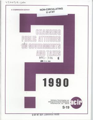 Primary view of object titled 'Changing public attitudes on governments and taxes, 1990'.