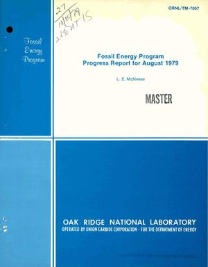 Primary view of object titled 'Fossil Energy Program. Progress report for August 1979'.