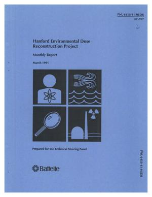 Primary view of object titled 'Hanford Environmental Dose Reconstruction Project Monthly Report'.