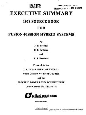 Primary view of object titled '1978 source book for fusion--fission hybrid systems'.
