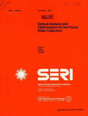 Primary view of object titled 'Optical analysis and optimization of line focus solar collectors'.
