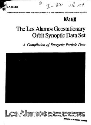 Primary view of object titled 'Los Alamos geostationary orbit synoptic data set: a compilation of energetic particle data'.