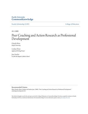 Peer Coaching and Action Research as Professional Development