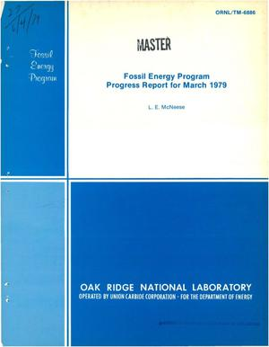 Primary view of object titled 'Fossil energy program. Progress report, March 1979'.