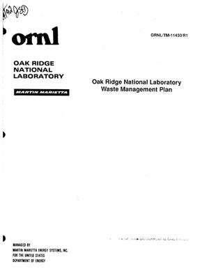 Primary view of Oak Ridge National Laboratory Waste Management Plan