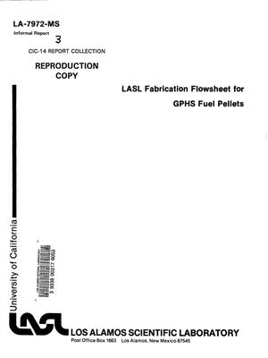 Primary view of object titled 'LASL fabrication flowsheet for GPHS fuel pellets'.