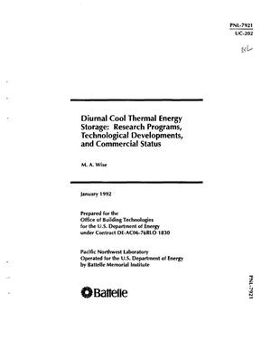 Primary view of object titled 'Diurnal cool thermal energy storage: Research programs, technological developments, and commercial status'.