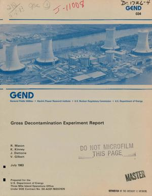 Primary view of object titled 'Gross decontamination experiment report'.