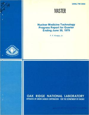 Primary view of object titled 'Nuclear medicine technology progress report for quarter ending June 30, 1979'.